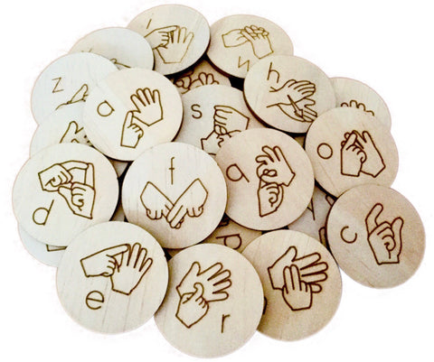 Auslan Alphabet Discs Lower Case - Sticks & Stones Education