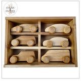Wooden Car Set - Sticks & Stones Education