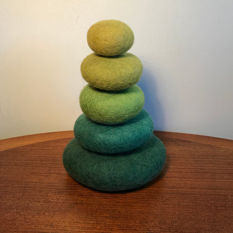 Stacking Stones in Green Tones - Sticks & Stones Education