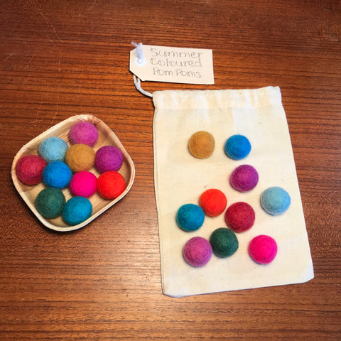 Felt Marbles Summer Colours Mini Set - Sticks & Stones Education