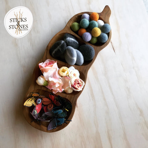 Wooden Tamarind Tray - Sticks & Stones Education