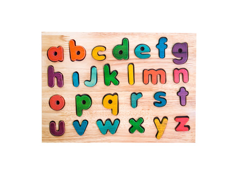 lower case colourful alphabet