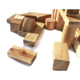 Natural Wood Blocks - Set of 34