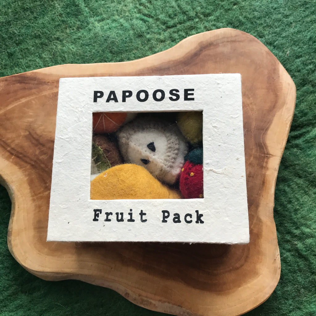 papoose toys felt fruit box set