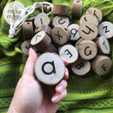 Natural Alphabet Threading Set
