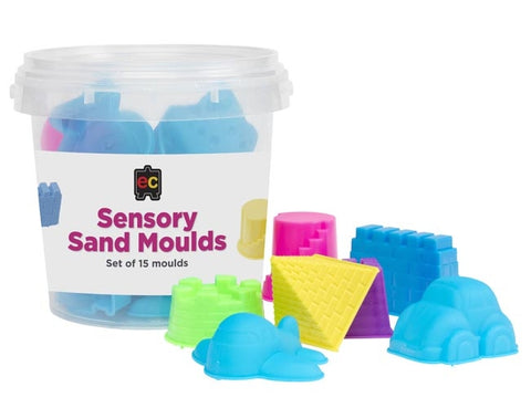 set of 15 sensory sand moulds