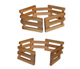 Folding Wooden Fences - Set of 4
