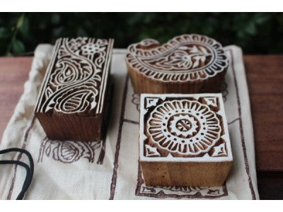 Traditional Indian Wooden Block Print Stamps