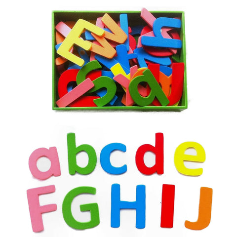Colourful Wooden Alphabet Magnets
