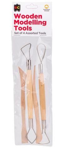Wooden Modelling Tools - Set of 4