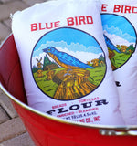 Blue Bird Flour in a 10lb cotton flour bag