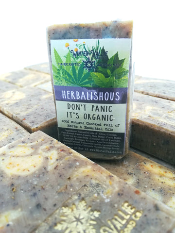 Herbalicious Exfoliating Hemp Oil Soap, Silk, Shea, Soap Handmade Handcrafted Artisan Soap