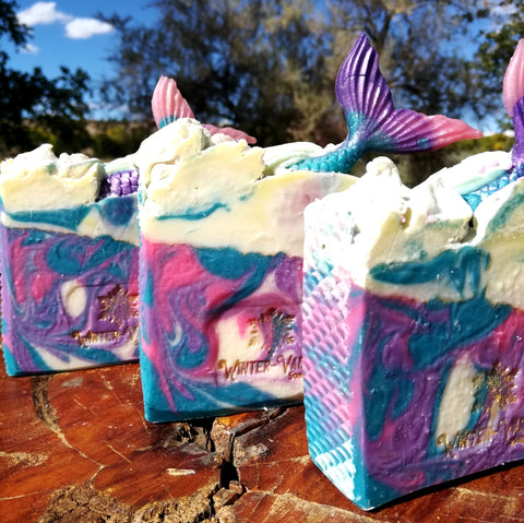 Mermaid Magic, Silk, Shea, Soap Handmade Handcrafted Artisan Soap