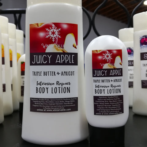 Juicy Apple Triple Butter and Apricot Kernal Creamy Lotion for body & hand