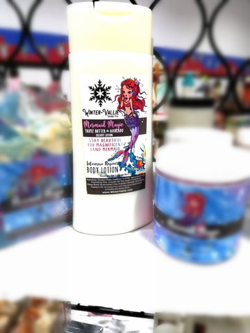 Mermaid Magic Triple Butter and Apricot Kernal Creamy Lotion for body & hand