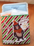 Holiday 3 step facial set, BEAR woodland animal, great for stocking stuffers and gifts under 5.00