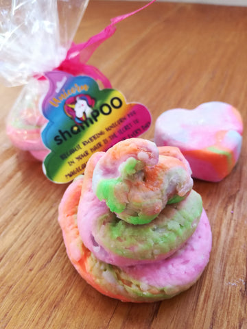 ShamPOO Unicorn Rainbow solid hair shampoo bar