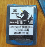 Perfect Man Soap, Manly Unicorn, Natural olive oil and Coconut Soap Handmade Handcrafted Artisan Soap