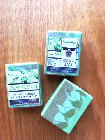 Olive Branch soap Artisan Silk, Shea, Soap Handmade Handcrafted