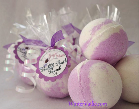 Sugar Plum Moisturizing Cocoa Butter Bath Fizzy Ball