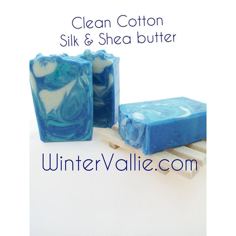 Clean Cotton, Silk, Shea, Soap Handmade Handcrafted Artisan Soap