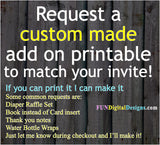 Custom Made addon to your invite order