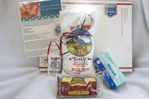 Fry Bread Kit, to make Navajo Indian Tacos with Blue Bird Flour, and the preferred Lard and Baking Soda used on the Navajo Reservation