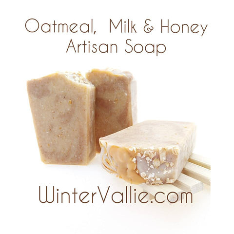 Oatmeal, Coconut Milk & Honey Cold processed Soap, Silk, Shea, Soap Handmade Handcrafted Artisan Soap