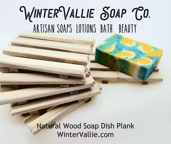 Natural Wood Soap Dish Plank