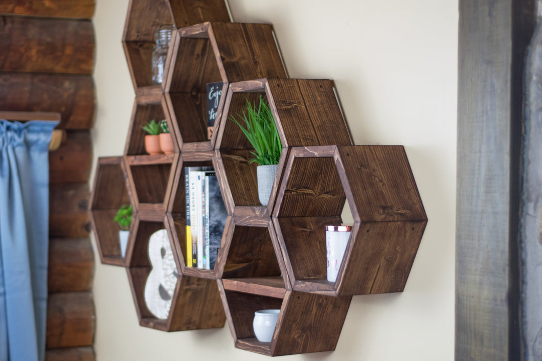 Hexagon Shelves | Set Of 3 | 5.5