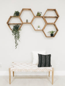 "Hexagon Shelves | 3.5"" Depth"
