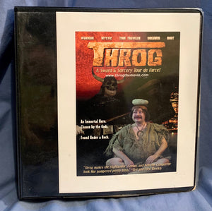 "Press kit for ""Throg"""