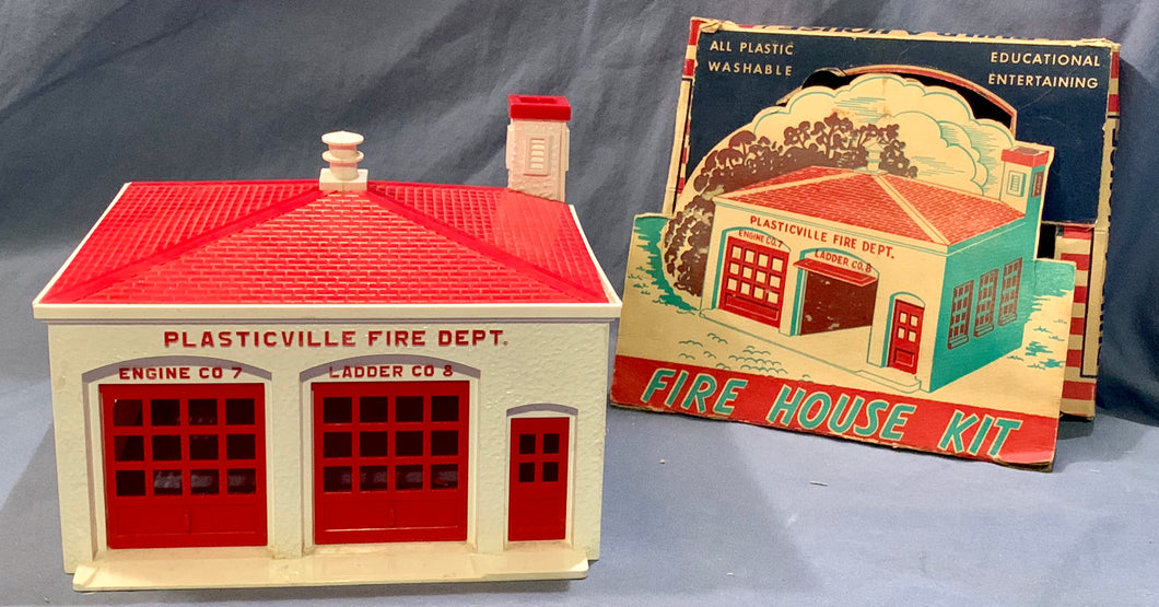 Plasticville Fire Station House Miniature from