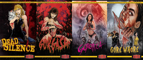 4 Pack Blu-Ray Gorotica Gorgasm Gore Whore Dead Silence