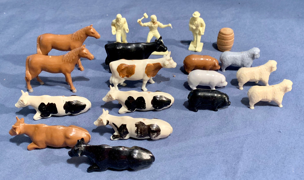 Farm Animals Miniatures Lot used in