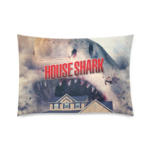 "House Shark Pillow Case Custom Zippered Pillow Cases 20""x30""(Twin Sides)"