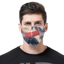 House Shark Real Art 3D Mouth Mask with Drawstring (15 Filters Included) (Model M04)