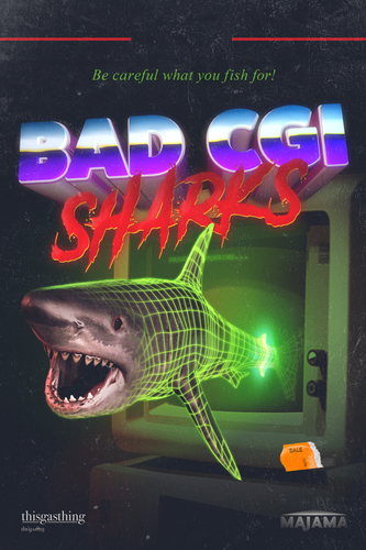 Bad CGI Sharks VHS