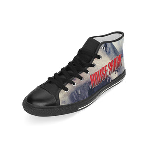 House Shark Sneakers Men's Classic High Top Canvas Shoes (Model 017)