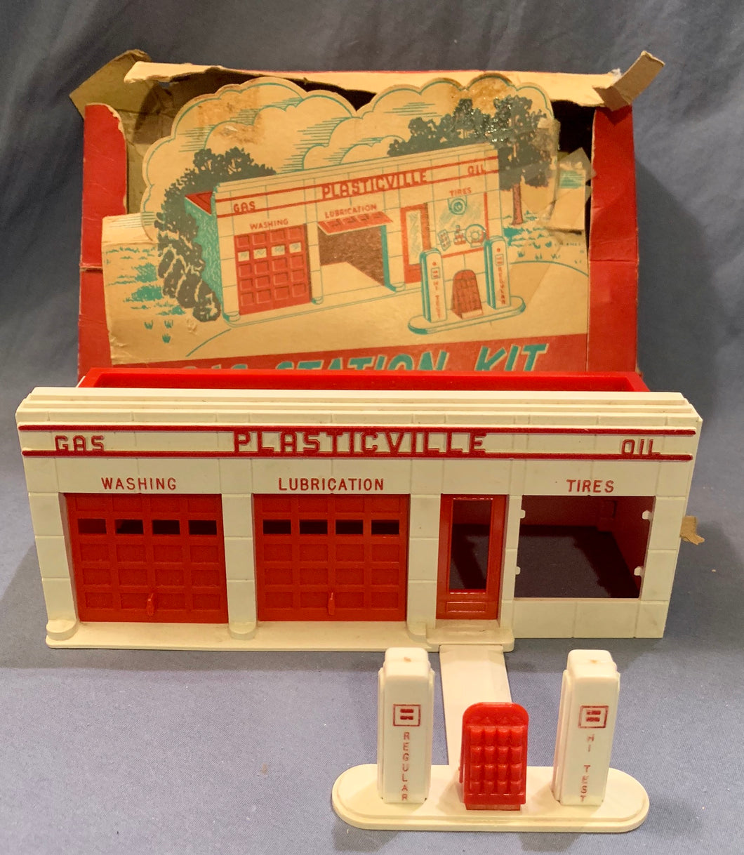 Plasticville Gas Station Kit Miniature from