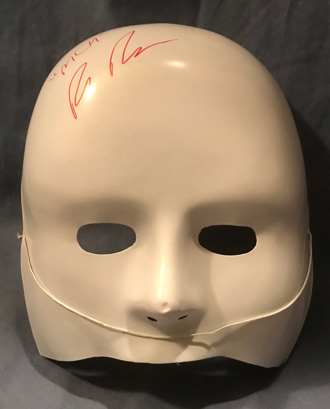 Signed Cult Member Mask from