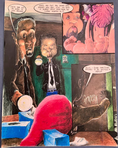 Original TV Scene Magazine Art Piece Seven Spoof