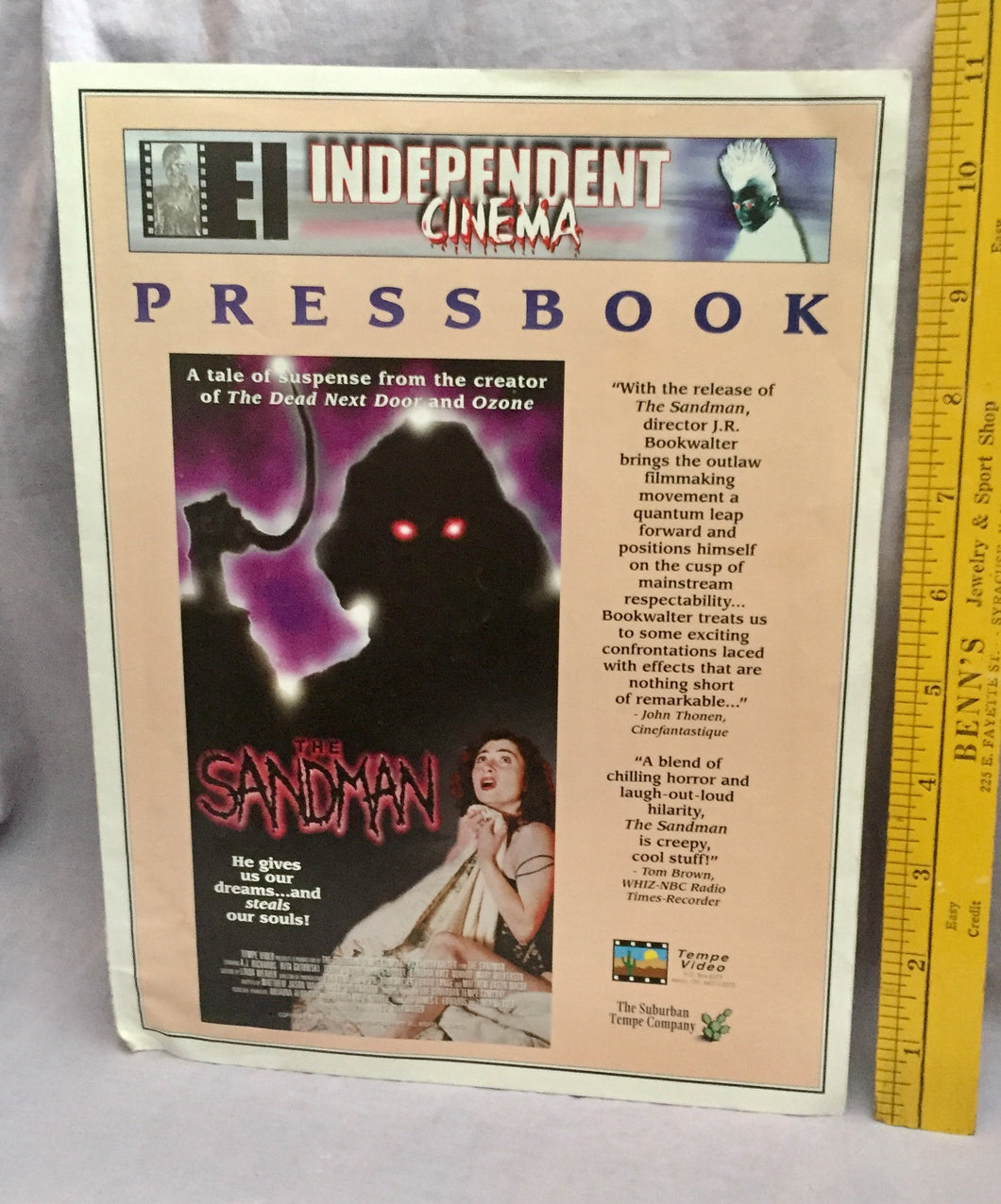Sandman, The VHS Promo Flyer booklet