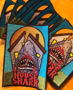 "House Shark 4"" 100% Embroided Patch"