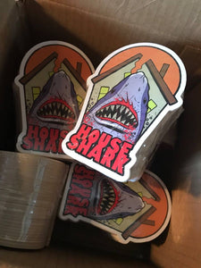 "House Shark Diecut 4"" Sticker"