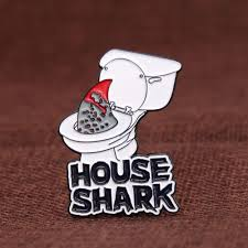 "House Shark 1.5"" Soft Enamel Collector's Pin"