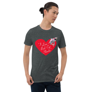 Bad CGI Sharks Shark Heart Lucy Short-Sleeve Unisex T-Shirt