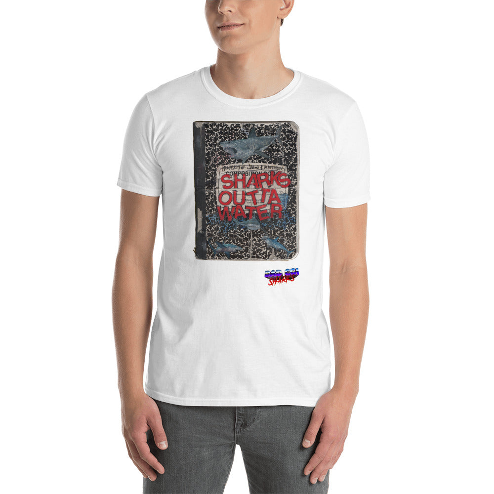 Bad CGI Sharks Notebook Short-Sleeve Unisex T-Shirt