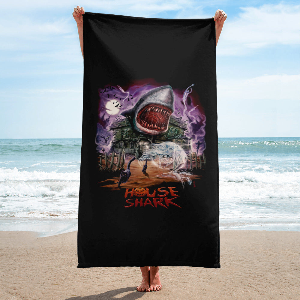 House Shark Halloween Towel