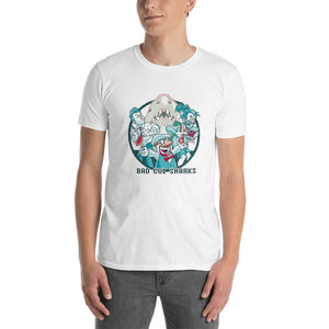 Bad CGI Sharks Animated T-Shirt Short-Sleeve Unisex T-Shirt
